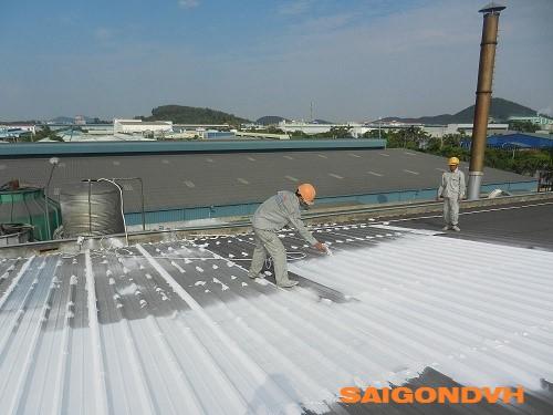 Thi công chống nóng mái tôn, thợ sơn mái tôn cách nhiệt