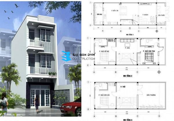 thiết kế nhà của thợ sửa chữa nhà tại TP Thuận An