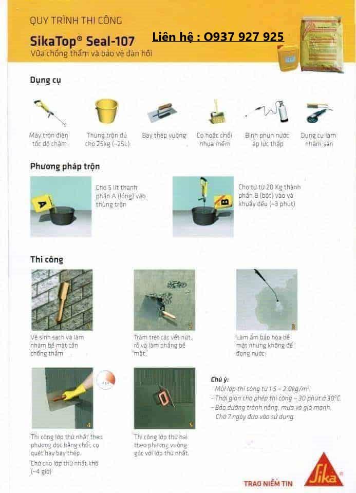 Quy trình thi công chống thấm