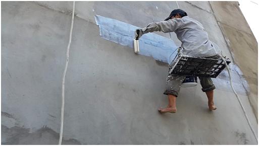 Lăn chống thấm tường bằng KOVA Giải pháp tốt cho tường nhà