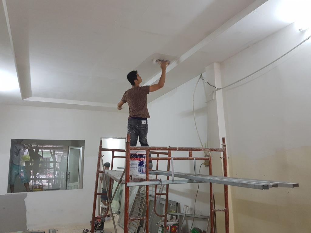 Nhận sơn bả matit, sơn chống thấm, sơn vách trần nhà