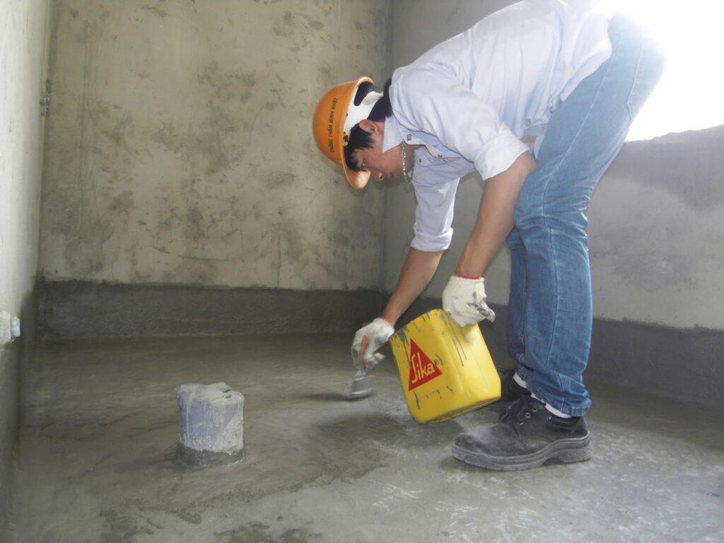Chống thấm nhà vệ sinh bề mặt nền bằng SIKA