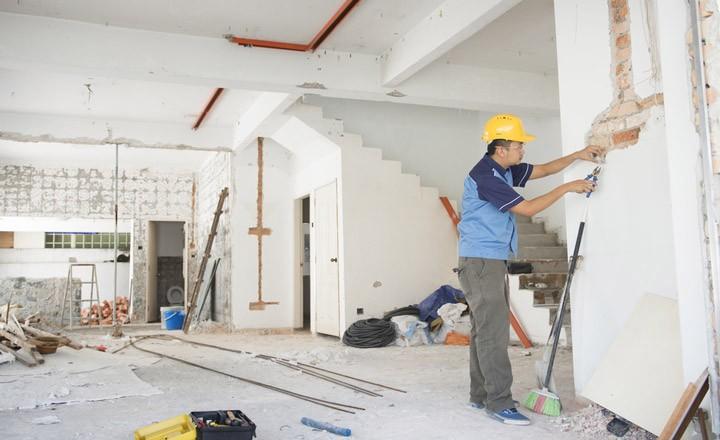 ngôi nhà cần thợ sửa chữa nhà tại quận 6