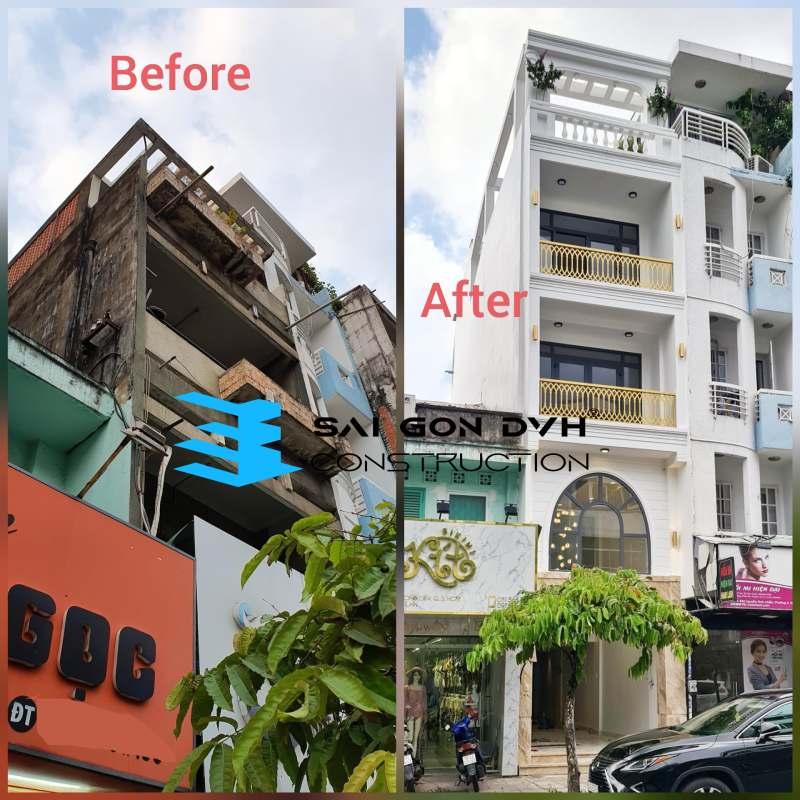 Sự khác biệt trước và sau khi sử dụng dịch vụ sửa nhà tại Củ Chi